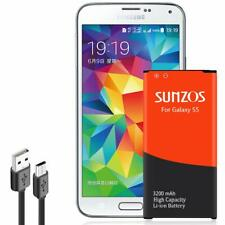 Sunzos Galaxy S5 Battery, 3200mAh Li-ion Replacement Battery for Galaxy S5 [ I96