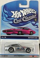 1/64 HOT WHEELS cool Classic Datsun 240Z pink card back ground