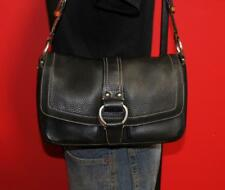 COACH CHELSEA Black Pebbled Smaller Leather Satchel Purse Shoulder Bag F10893