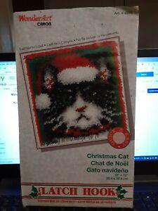 Wonderart by Caron Latch Hook Kit Christmas Cat