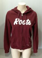 Roots Canada Hoodie Burgundy Women's Long Sleeve Full Zip Hooded Jacket Size M