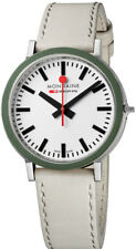 Mondaine Men's Gottardo 2016 White Dial White Strap Quartz Watch A950030363GSET