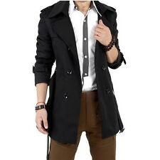 Men's Winter Slim Double Breasted Trench Coat Long Jacket Overcoat Outwear  ZLIU