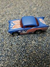 1976 Hot Wheels '57 Chevy American Red White Blue Eagle Design