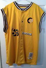 Mecca Baseball Jersey Vest Yellow Brown 68 XXL 2XL 1968 Sleeveless