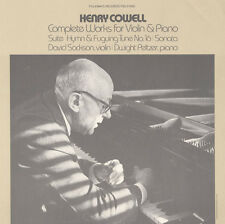Dwight Peltzer - Henry Cowell's Complete Works for Violin and Piano [New CD]