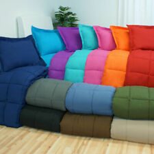 200 GSM Luxury Down Alternative Comforter US Sizes Solid/Stripe Colors