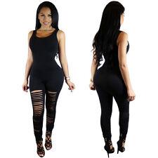 New Women's Sleeveless Playsuit Bodysuit Casual Bandage Bodycon Jumpsuit Romper