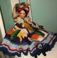 Vtg Doll Brazil Handmade Orbis Joao Alves Oil Painted Felt Vintage Free Shipping