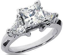 2.11 ct total Princes & Triangle shape Diamond Engagement Wedding 14k Gold Ring