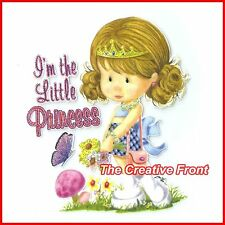 I'm The Little Princess - Iron On T-Shirt Glitter Heat Transfer - NEW