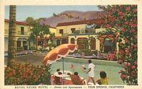 1940s Coachella Royal Palms Hotel California Pool Teich linen Swimming Pool