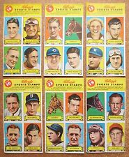1937 Kellogg's 6 Pep Stamp Panels Red Grange (2) Walter Johnson 3-Fingers +album