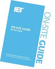 More details for iet on site guide for wiring regulations 18th edition 2018 bs7671:2018 blue