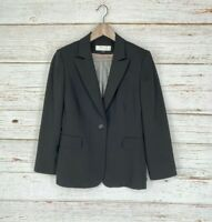 Tahari Arthur S Levine Sz 8 Blazer Jacket Black One Button Lined Career Womens