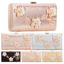 Flower Metallic Handbags