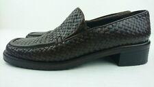 Mezlan Women 9 N Brown Woven Basket Leather Shoe Vibram Sole Elastic FLAW