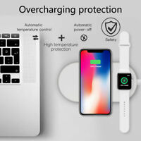 For Apple Watch iPhone 8 XR XS Qi 2 in 1 Wireless Charger Fast Charging Dock Pad