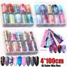 10Pcs/Box Nail Art Foil Set Stickers Glue Transfer Gorgeous Starry Sky Decals