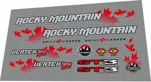 2001 Rocky Mountain Vertex Team SC DECAL SET