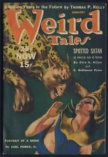 WEIRD TALES Pulp Magazine January 1940, VIRGIL FINALY Cover Art, FINE Condition
