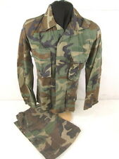 post-Vietnam Woodland Camouflage Uniform BDU Set Jacket Med/Reg & Pants 38x33