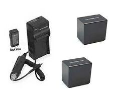 2X Batteries +Charger for Sony HDR-PJ820 HDR-PJ820E HXR-NX30 HXR-NX30U HXR-NX30E