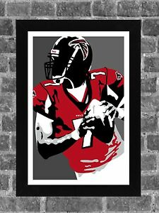 Atlanta Falcons Michael Vick Portrait Sports Print Art 11x17