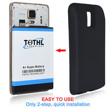 TQTHL Samsung Galaxy Note 4 11800mah Super Extended Battery+Black TPU Case