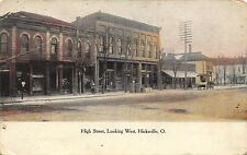 OH - 1908 RARE! High Street looking west in Hicksville, Ohio - Defiance County