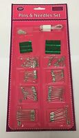 Safety Pins and Needle set Assorted NICKEL PLATED SEWING CRAFTS PIN NEEDLE KIT