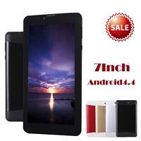 "7"" HD Dual SIM Camera 3G Dual Core Tablet PC Android 4.4 512Mb+8GB Bluetooth Lot"