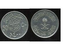 SAUDI ARABIA     ARABIE SAOUDITE  50 halala  1979 - 1400    ( etat )