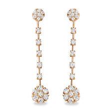 2.10ct Quilates Natural VS1-VS2 Diamante 14k Sólido Pendientes Oro Amarillo