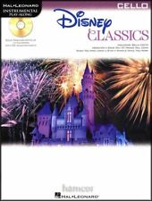 Disney Classics Cello Instrumental Play-Along Sheet Music Book with CD