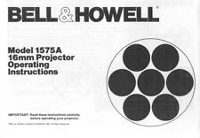 Bell & Howell Model 1575A 16mm Projector Instruction Manual photocopy