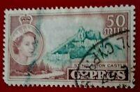 Cyprus:1955 Queen Elizabeth II 50M Rare & Collectible stamp.
