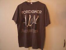 FOREIGNER - Acoustique  - Large Gray T Shirt / VG+/ Hard Rock