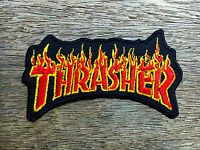 Thrasher embroidered patch iron on, sew, decorate skateboard sports