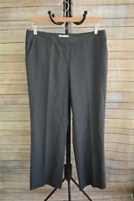 Calvin Klein - Gray heather straight leg rayon-polyester dress pants size 14P