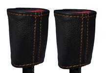 Cuciture arancione 2x Posteriore Cintura Di Sicurezza Pelle copre gli accoppiamenti ALFA ROMEO GIULIETTA 10-15