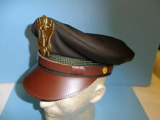vhc7s  WW 2 US Army Officer OD Service Visor hat  size 7 with back strap