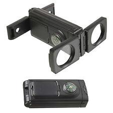 Fold Away Binoculars Mirror Compass Compact Kit Magnifying Camping Outdoor Field