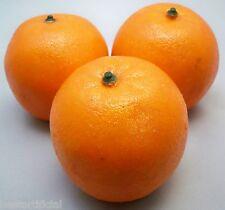 3 Large Best Artificial Oranges Décorative Réaliste Fruit Neuf