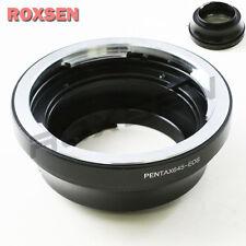 Af confirmar Pentax 645 Montaje Lente Adaptador Canon EOS EF 7D 60D 600D 550D 1100D
