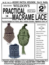 Weldon's 2D #22 c.1886 Victorian Macramé Lace Instruction Patterns (3rd Book)