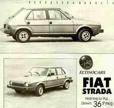 1980 FIAT STRADA ROAD TEST REPRINT-FIAT STRADA