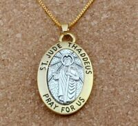 """ST JUDE Patron Saint of Hope & Impossible Causes 24"""" Chain & Large Pendant"""