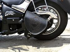 Kawasaki vulcan vn 800 en cuir bras oscillant crâne unique panier selle sac