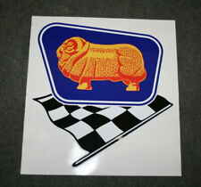 Golden Fleece Duo w/ chequered flag self-adhesive vinyl decal for petrol bowser